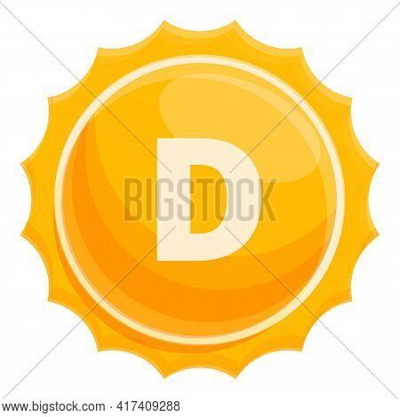 Sun Vitamin Icon. Cartoon Of Sun Vitamin Vector Icon For Web Design Isolated On White Background