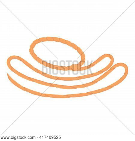 West Lasso Icon. Cartoon Of West Lasso Vector Icon For Web Design Isolated On White Background