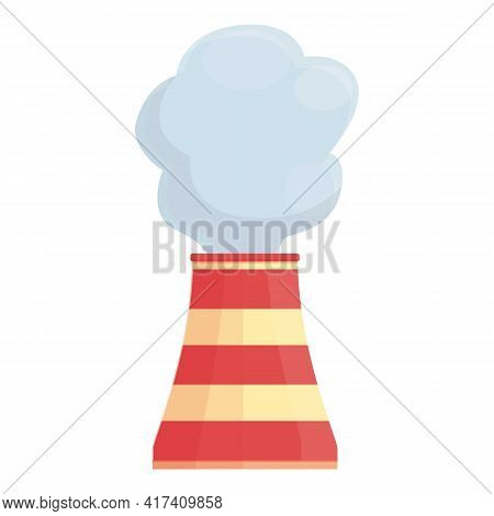 Industry Chimney Icon. Cartoon Of Industry Chimney Vector Icon For Web Design Isolated On White Back