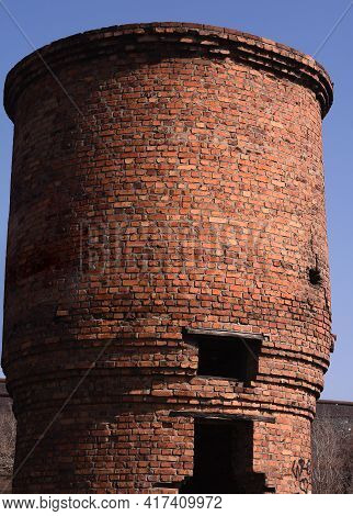 An Old Former Water Tower. Close Up.