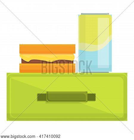 School Breakfast Sadwich Icon. Cartoon Of School Breakfast Sadwich Vector Icon For Web Design Isolat