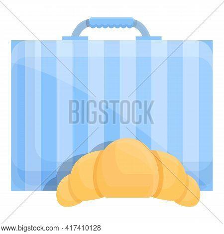 School Breakfast Croissant Icon. Cartoon Of School Breakfast Croissant Vector Icon For Web Design Is