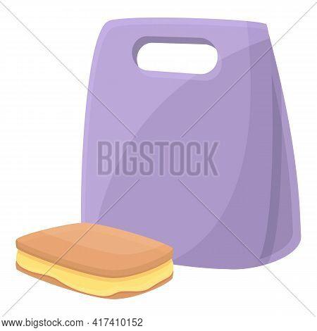 School Breakfast Sandwich Icon. Cartoon Of School Breakfast Sandwich Vector Icon For Web Design Isol
