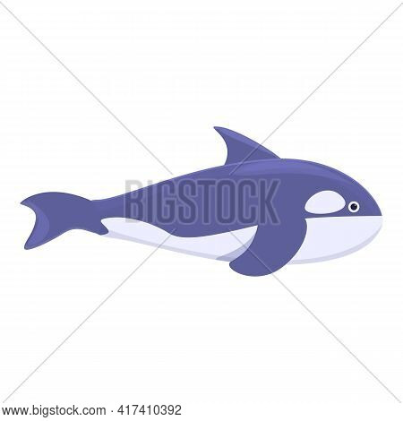 Water Killer Whale Icon. Cartoon Of Water Killer Whale Vector Icon For Web Design Isolated On White