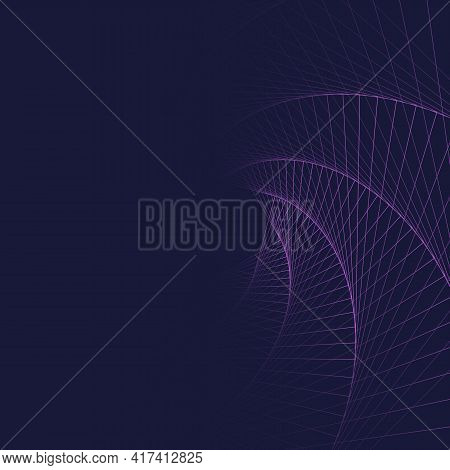 Rotation Square Abstract Geometric Background, Vector Equilibrium