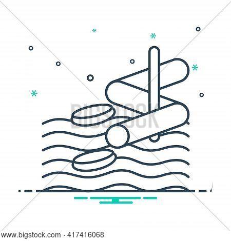 Mix Icon For Aqua-park  Aqua Park Water-slide Water-park