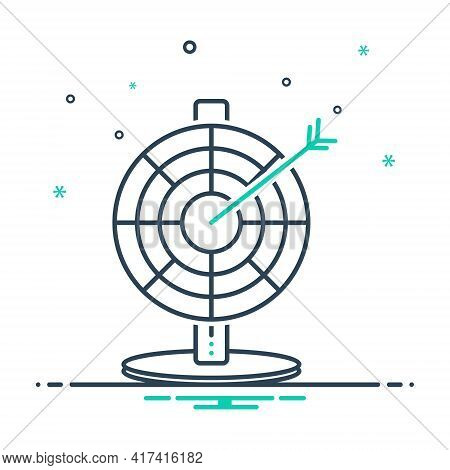 Mix Icon For Darts  Arrows Target  Darts-board  Goal