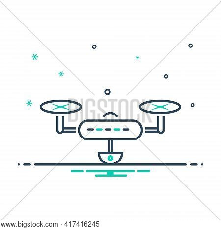 Mix Icon For Drone Drone-camera Videography Aircraft Technology