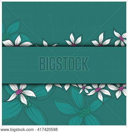 Modern Postcard, Great Design For Any Purposes. Nature Background Vector. Abstract Floral Background