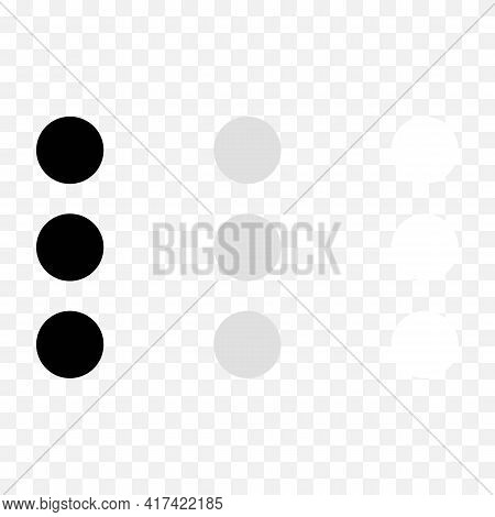 Attach Or Add A File To Message Black, White, Grey Icon. Three Points Or Circles. Trendy Flat Isolat