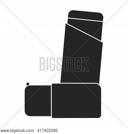 Inhaler Vector Black Icon. Vector Illustration Inhaler Spray On White Background. Isolated Black Ill