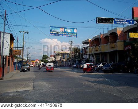 Flores, Guatemala - 09 Mar 2011: The Street In Flores, Guatemala