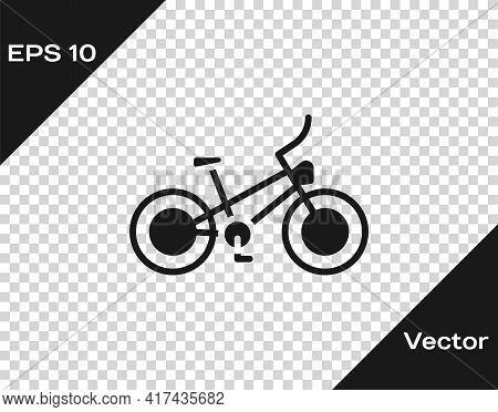 Black Bicycle Icon Isolated On Transparent Background. Bike Race. Extreme Sport. Sport Equipment. Ve