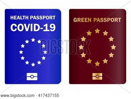 Vaccinated Health Passport. Travel Immune Document. Checking Immunization Against Diseases And The C