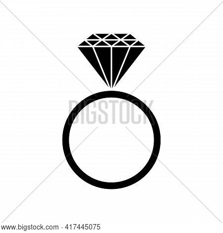 Ring With Diamond Or Other Gemstone. Wedding Ring. Engagement Or Marriage Ring Expensive Jewelry. Tr