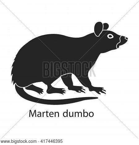 Mouse Animal Vector Black Icon. Vector Illustration Rat On White Background. Isolated Black Illustra
