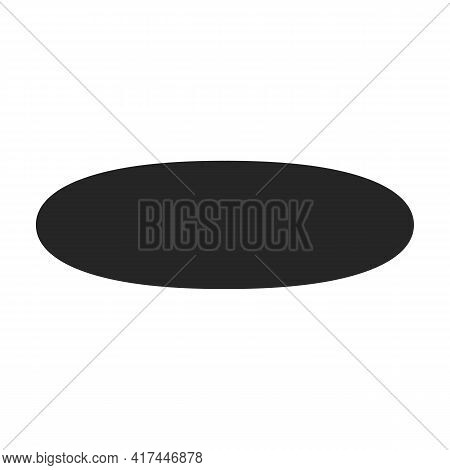 Omega Oil Vector Black Icon. Vector Illustration Oil Fish On White Background. Isolated Black Illust