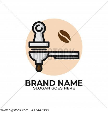 Espresso Tampers Logo Vector Illustration, Can Used Coffee Shop Logo Icon With Flat Design Style