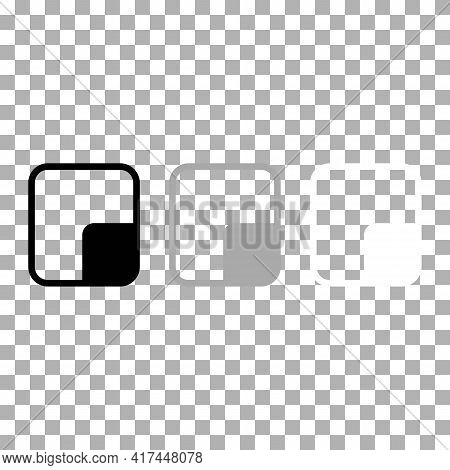 Resize Or Background View Reduce Screen Icon In Black, Grey, White. Trendy Flat Isolated Symbol, Sig