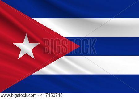 Flag Of Cuba Fabric Texture Of The Flag Of Cuba.