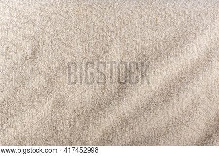 Milky White Terrycloth Background. Milky Fabric. Textile Surface