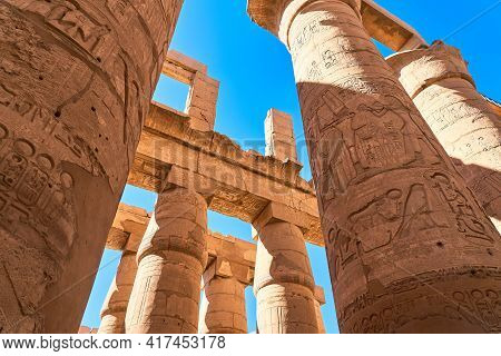 Luxor, Egypt - January 30, 2021 - Famous Landmark In The World Near The Nile River And Luxor