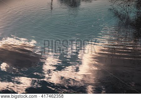 Reflections In Water Make A Relaxing Abstract Background