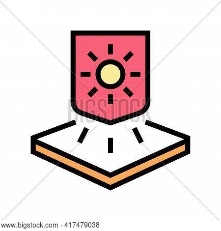 Warm Fabrics Properties Color Icon Vector. Warm Fabrics Properties Sign. Isolated Symbol Illustratio