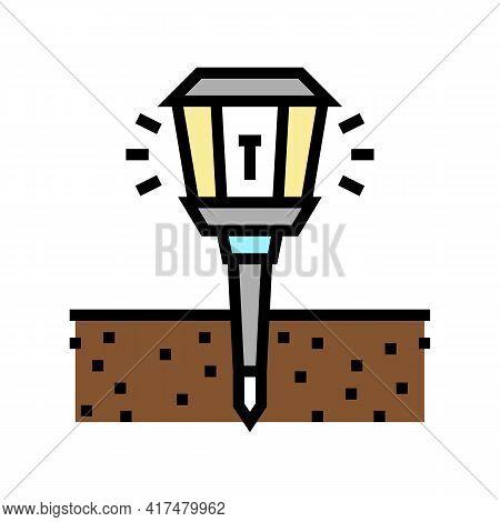 Sonic Repeller Gardening Color Icon Vector. Sonic Repeller Gardening Sign. Isolated Symbol Illustrat