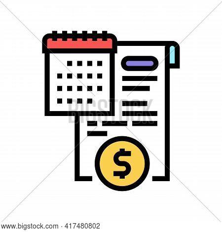 Compensation Law Dictionary Color Icon Vector. Compensation Law Dictionary Sign. Isolated Symbol Ill