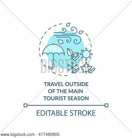 Travel Outside Of The Main Tourist Season Concept Icon. Sustainable Tourism Ideas. Popular Tourism S