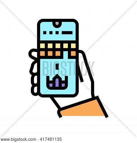 Mobile Games Mens Leisure Color Icon Vector. Mobile Games Mens Leisure Sign. Isolated Symbol Illustr
