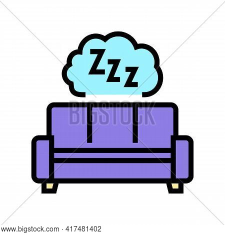 Sleeping Mens Leisure Color Icon Vector. Sleeping Mens Leisure Sign. Isolated Symbol Illustration