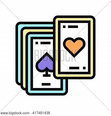 Play Cards Mens Leisure Color Icon Vector. Play Cards Mens Leisure Sign. Isolated Symbol Illustratio