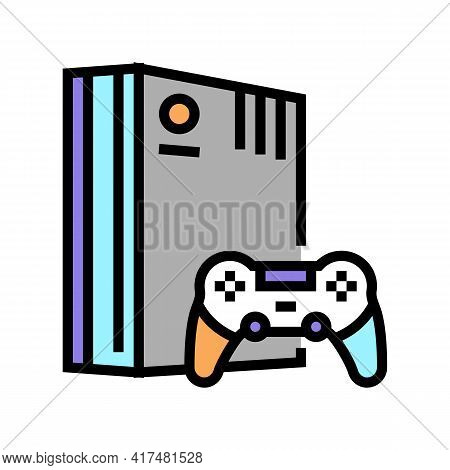 Video Games Mens Leisure Color Icon Vector. Video Games Mens Leisure Sign. Isolated Symbol Illustrat