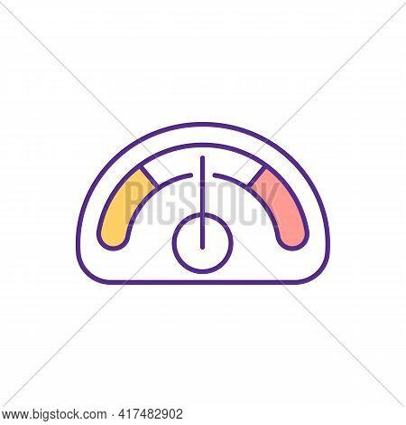 Regulating Blood Pressure Levels Rgb Color Icon. Cardiovascular System Health. Managing Blood Volume