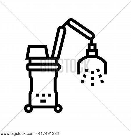 Photodynamic Therapy Line Icon Vector. Photodynamic Therapy Sign. Isolated Contour Symbol Black Illu