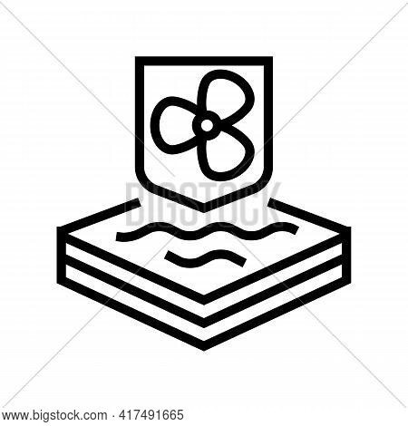 Cool Fabrics Properties Line Icon Vector. Cool Fabrics Properties Sign. Isolated Contour Symbol Blac