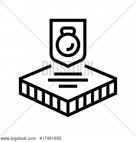 Durable Fabrics Properties Line Icon Vector. Durable Fabrics Properties Sign. Isolated Contour Symbo