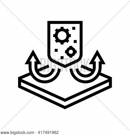 Antibacterial Fabrics Properties Line Icon Vector. Antibacterial Fabrics Properties Sign. Isolated C