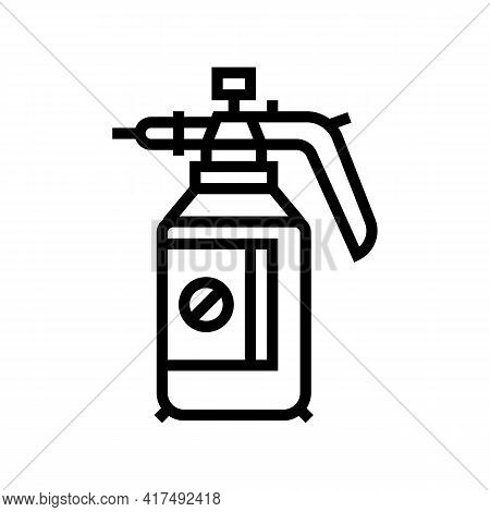Chemical Treatment Gardening Line Icon Vector. Chemical Treatment Gardening Sign. Isolated Contour S
