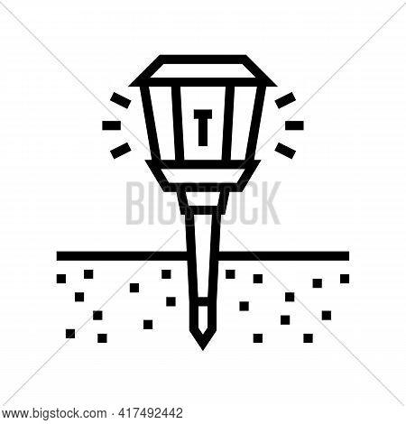 Sonic Repeller Gardening Line Icon Vector. Sonic Repeller Gardening Sign. Isolated Contour Symbol Bl