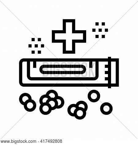 Medical Drug Homeopathy Line Icon Vector. Medical Drug Homeopathy Sign. Isolated Contour Symbol Blac
