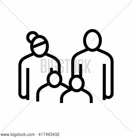 Family Law Dictionary Line Icon Vector. Family Law Dictionary Sign. Isolated Contour Symbol Black Il