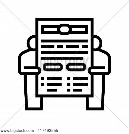 Leasing Contract Law Dictionary Line Icon Vector. Leasing Contract Law Dictionary Sign. Isolated Con
