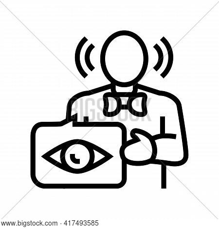 Witness Law Dictionary Line Icon Vector. Witness Law Dictionary Sign. Isolated Contour Symbol Black