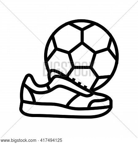 Play Football Soccer Mens Leisure Line Icon Vector. Play Football Soccer Mens Leisure Sign. Isolated