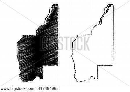 Grant County, State Of Washington (u.s. County, United States Of America, Usa, U.s., Us) Map Vector