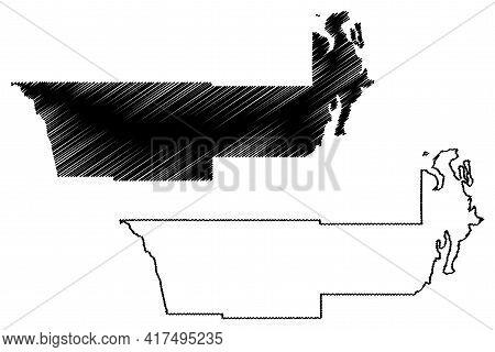 Jefferson County, State Of Washington (u.s. County, United States Of America, Usa, U.s., Us) Map Vec