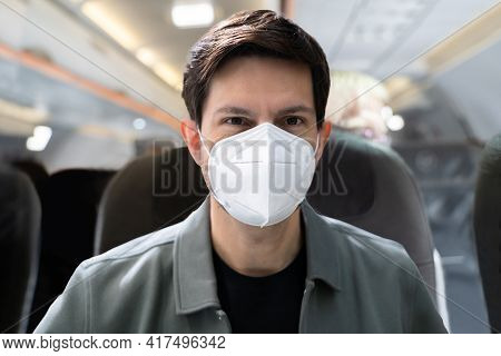 Ffp2 Or N95 Face Mask Corona Protection On Plane